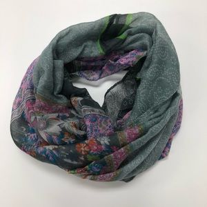 Accessories - Floral Light Infinity Scarf